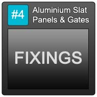 190 Aluminium Slat Panels Blue Button 4 Fixings